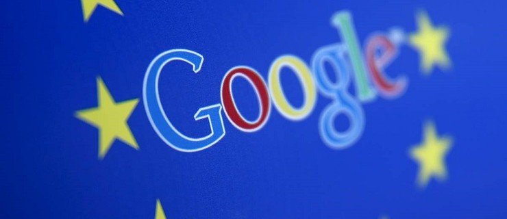 Google and European Union logos are seen in Sarajevo